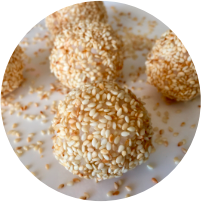 Etnic bolas de arroz con sésamo